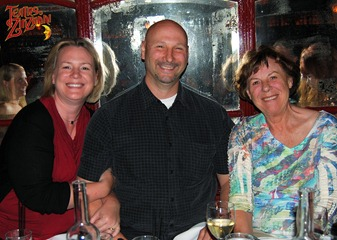 Suzy, Joe, and Mom at the table at Teatro ZinZanni