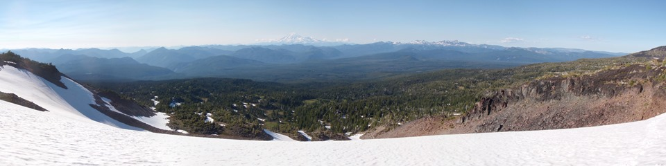Looking back toward Mt. Rainier